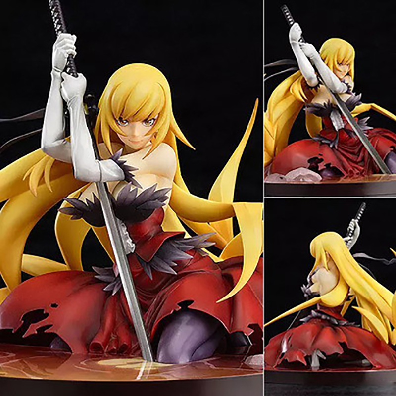 14cm Japanese Anime Sexy Oshino Shinobu Figurine PVC Action Figure Collectible Model Doll Toy Girls Best Gifts RT216 high quality japanese amine fs good smile goodsmile bakemonogatari oshino shinobu 19cm pvc action figure model toys gift
