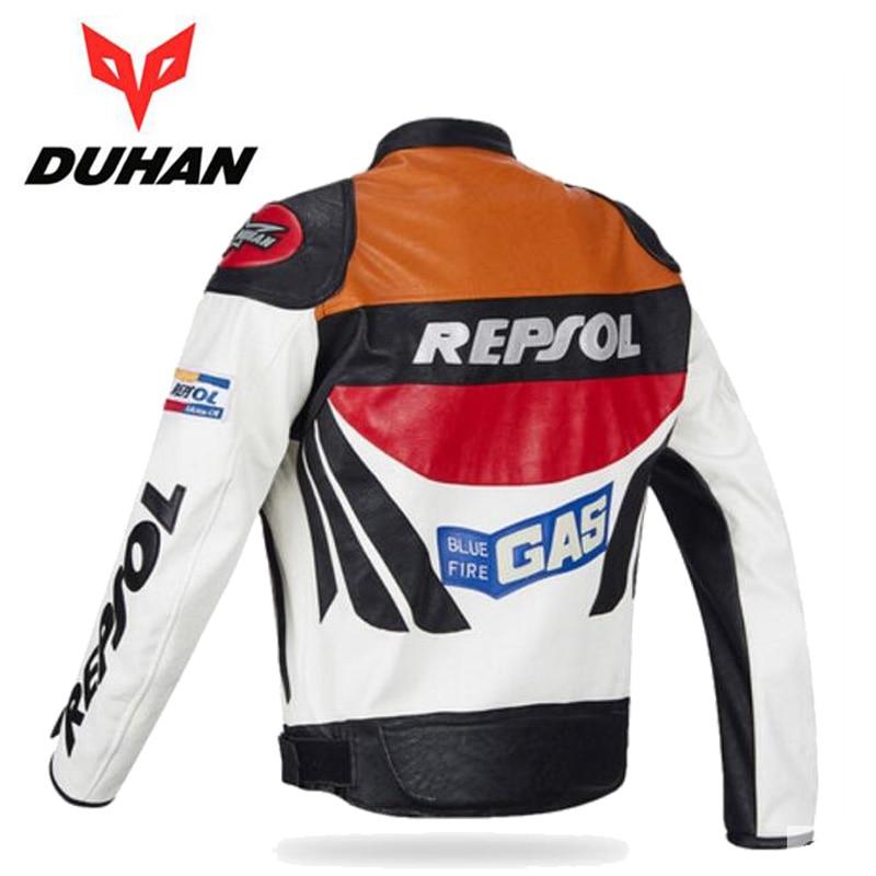 Offre spéciale DUHAN moto rcycle vêtements moto racing costumes REPSOL PU cuir hommes moto rbike veste vêtements printemps manteau - 2