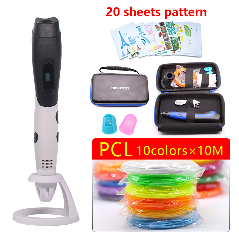 Low temperature 3D pen 3d printer pen safe Easy to carry Painting drawing tools the best Christmas gift with beautiful bag