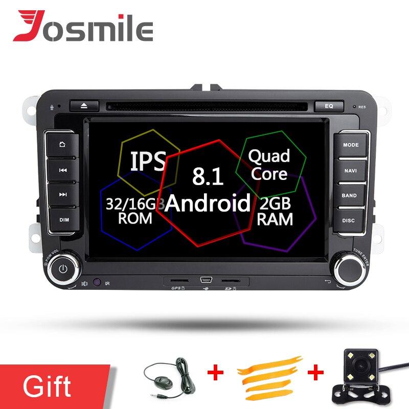 7 pouces Android 8.1 autoradio pour VW Vento T5 Tiguan Touran Sharan Magotan Golf MK6 Caddy GPS lecteur de Navigation DVD Wifi OBD DAB