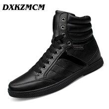 DXKZMCM Echtem Leder Männer Stiefel Warme Winter Schneeschuhe Männer Stiefel Lace Up Herren Schuhe Plus Größe 38-48
