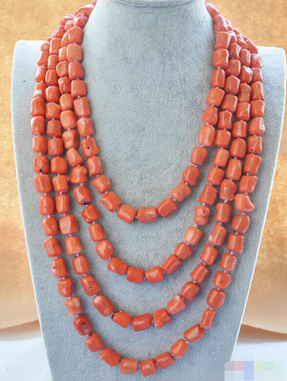 FREE SHIPPING>>>@@ > 1048 massive pink coral NECKLACE цена