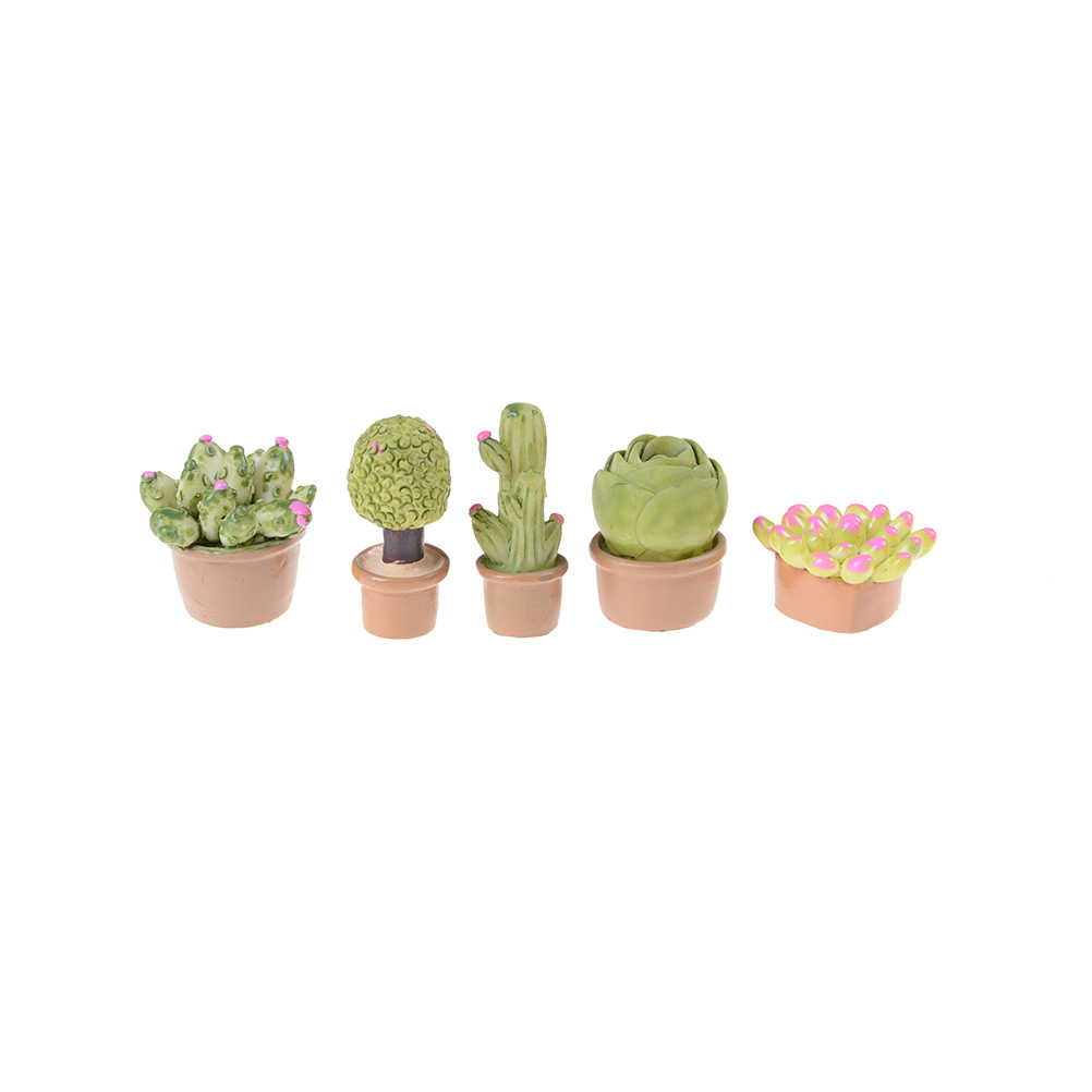 1:12 HOT Mini Miniature Green Plant In Pot For Dollhouse Furniture Decoration Home Decor Succulent Plants Dollhouse Decoration