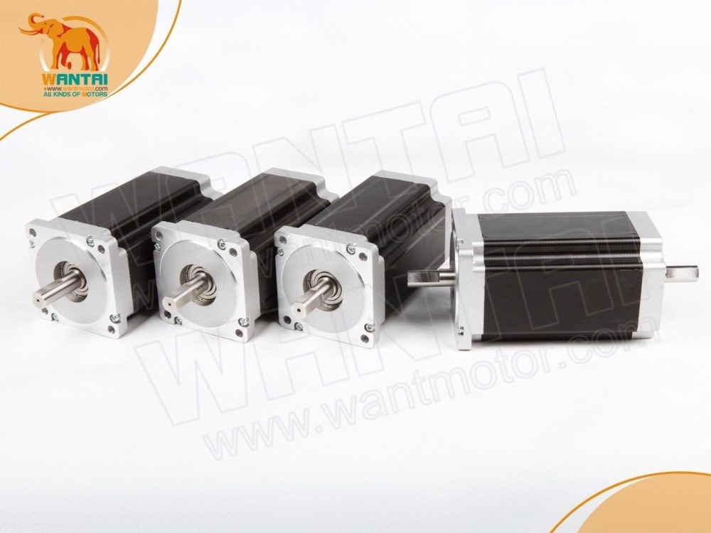 (German Ship & No Tax)4 PCS Nema 34 Wantai Stepper Motor 14mm Shaft diameter, 1232oz-in, 5.6A, CNC Mill, Engraver,Cutter developments in german politics 4