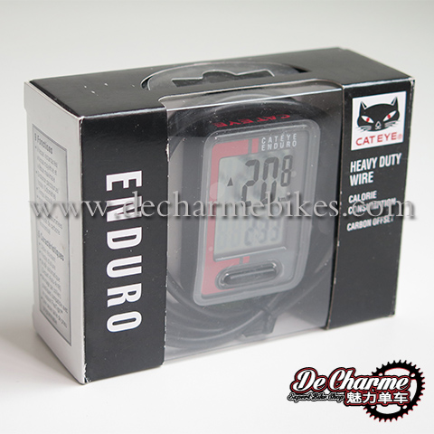 CATEYE ENDURO CC-ED400 WIREED BLACK//RED BICYCLE SPEEDOMETER COMPUTER