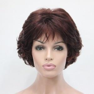 Image 3 - StrongBeauty วิกผมสังเคราะห์สั้น Curly ผมสีบลอนด์/Auburn วิกผมผู้หญิง