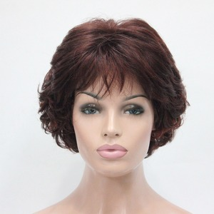 Image 3 - StrongBeauty Synthetic Wig Short Curly Hair Blonde/Auburn Wigs Womens