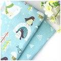 Chegada nova Dos Desenhos Animados Impresso Tecido de Sarja de Algodão Fundamento Do Bebê o Pano de Costura DIY Home Textile Material Telas para Patchwork