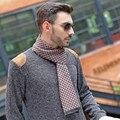 Diseño de moda de los hombres pañuelo bufanda de marca de lujo de alta calidad de Invierno Suave y Cálida Franja de La Borla Del Mantón Del Abrigo bufandas