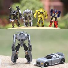 7 pcs, Mini Robot Transformasi transhape Anak Klasik Mobil Mainan Untuk Anak Aksi & Toy Angka 8 cm