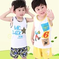 2016 New Children 1-3 Year Baby Boys Clothes Character Style Set Summer Clothing Cotton Short Regular T-Shirt +Pants Casual Sets