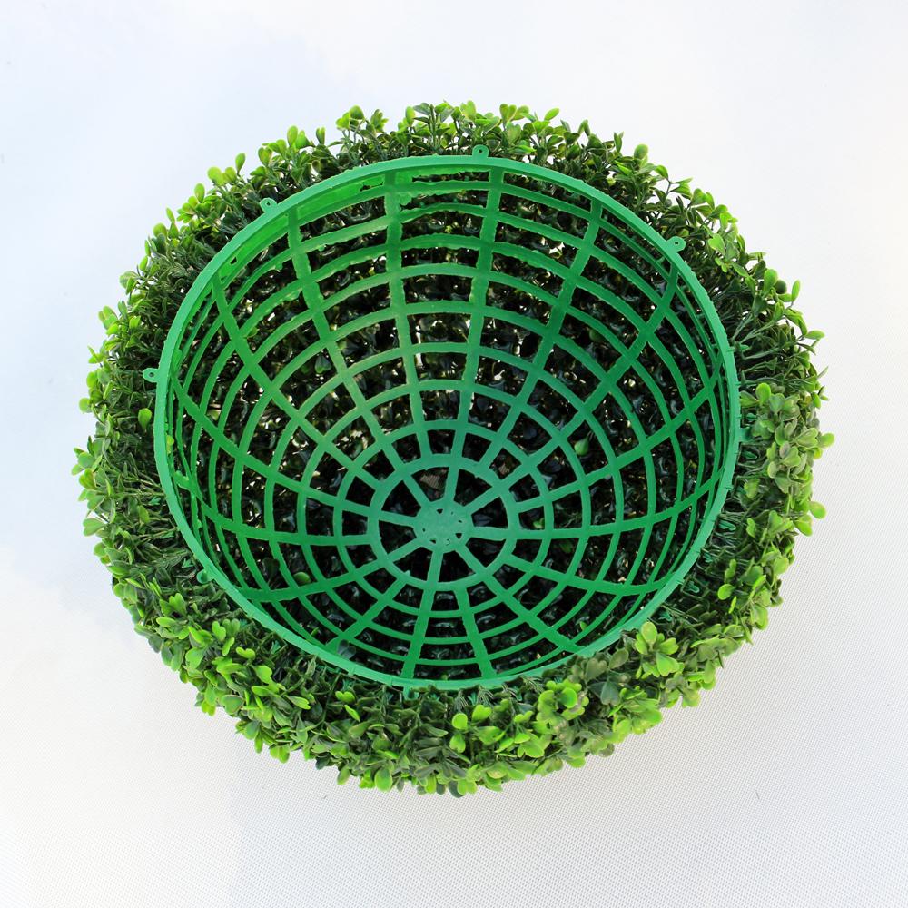 ULAND 48CM Decorative Artificial Grass Ball Plastic Leaf Effect Hanging Green Grass Ball Decoration Artificial Topiary Ball 6