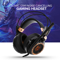 Somic G941 Upgrade 7.1 Active Noise Cancelling Headphone Virtual Surround Sound USB with Mic Vibrating Function Gaming Headset