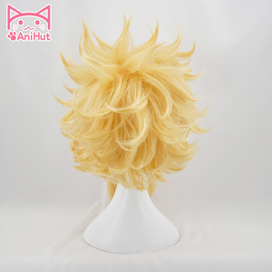 Image 3 - 【AniHut】 All Might Boku No Hero Academia Hai Cosplay Wig My Hero Academia/Academy Cosplay Wig Synthetic All Might Hair Men