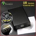 ТОП XMOS PCM5102 U8 USB ЦАП Т-Музыка Hifi Мини ЦАП Звуковая Карта 384 К 32bit с Выходом на Наушники