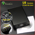TOP PCM5102 XMOS U8 USB DAC T-Music Hifi Mini DAC Sound Card  384K 32bit with Headphone Output