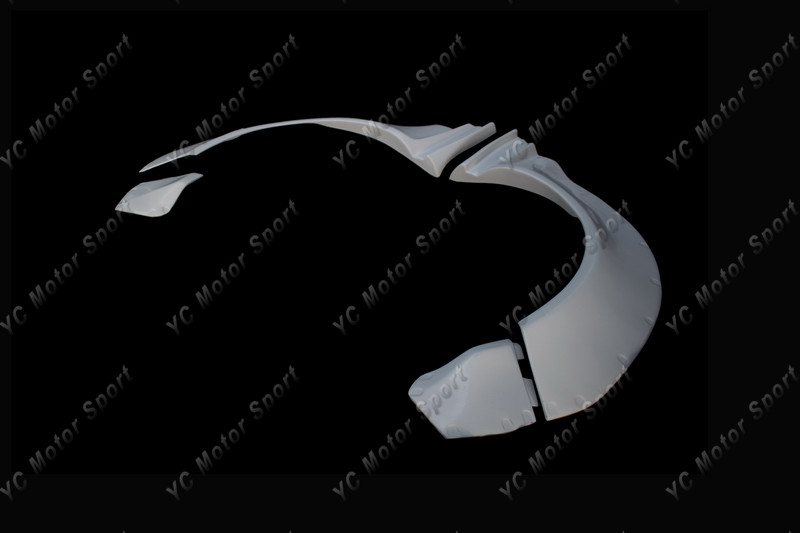 2011-2013 VW Scirocco R Karztrec Style Rear Over Fender Flare FRP (5)