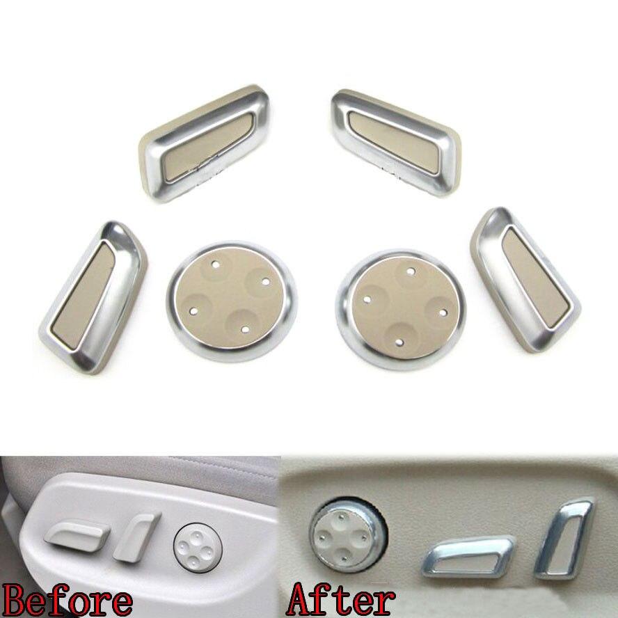 6X Car Seat Adjustment Knob Button Switch Cove Fit for Audi Q3 Q5 Q7 A4 A5 A6 A7