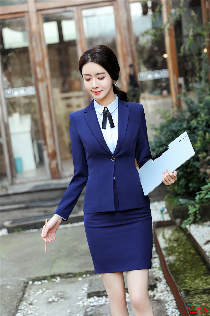 Pant Suits Women Business Suits 3 Piece Vest Pant And Jacket Sets Work Wear Ladies Blue Blazers Office Uniforms Styles Suits & Sets
