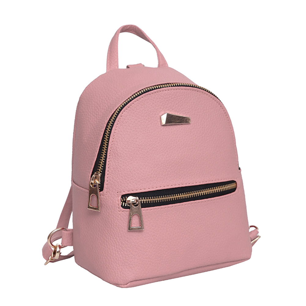 Ladies Girls Casual Travel Bag Fashion Women PU Leather Mini Backpack College Shoulder Satchel Rucksack Popular Mochila Feminina