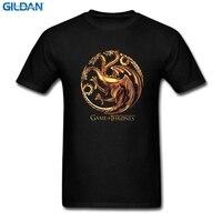 GILDAN Game Of Thrones Targaryen Dragon T Shirt Men And Women Tv Tee Big Size S