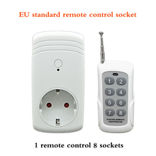 EU standard remote  socket 315 Learning RF Remote  Switch 1 remote  8 sockets malaysia 5326 330mhz 8 dip switch remote replacement