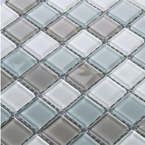 Crystal Gl Tile Sheets Square Tiling Mosaic Pattern Deco Mesh Kitchen Backsplash Whole Bathroom Shower