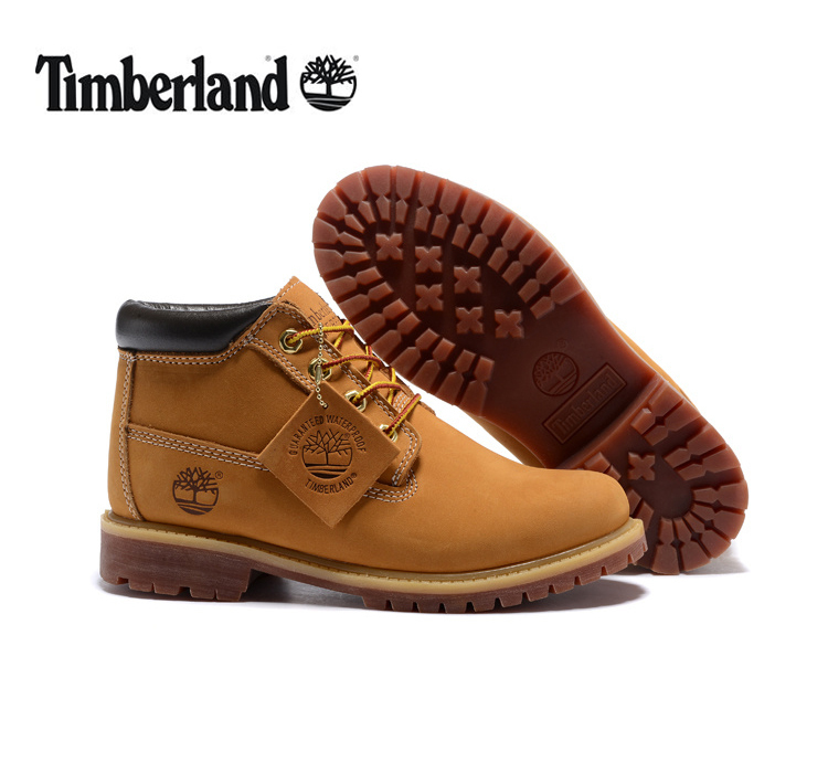 TIMBERLAND Classic Men's 23061 Premium Waterproof Middle-Top Ankle Boots For Men Male Nubuck Genuine Leather Wheat Yellow Shoes
