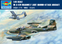 Trumpet 02889 1:48 American A 37B Dragonfly attack machine Assembly model
