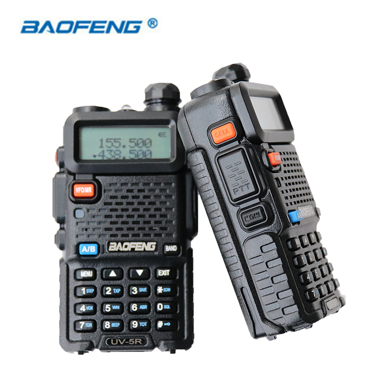 2 STÜCKE Baofeng UV-5R Walkie Talkie Dual Band HAM CB Radio 2 Way Tragbare Transceiver VHF UHF UV 5R Funkgeräte Communicator Stereo
