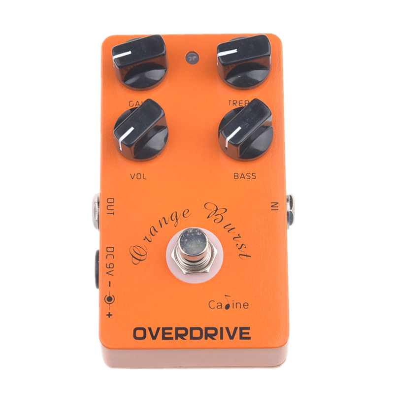 Caline CP-18 Overdrive Guitar Effect Pedal Orange Amplifier Guitar Pedal Accessories & Parts Guitar Pedal Effect Guitar Parts