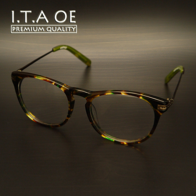 114e6df85a1 ITAOE W5054 Retro Style Brand Acetate Alloy Women Lady Girl Female Optical  Eyewear Frames Glasses Spectacles