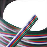 Freeshipping 5-20m 5-pin kabel draht 22 AWG RGB Erweiterung Blau/Rot/Weiß/ grün/Schwarz für RGBW SMD 5050 3528 Led RGB streifen licht