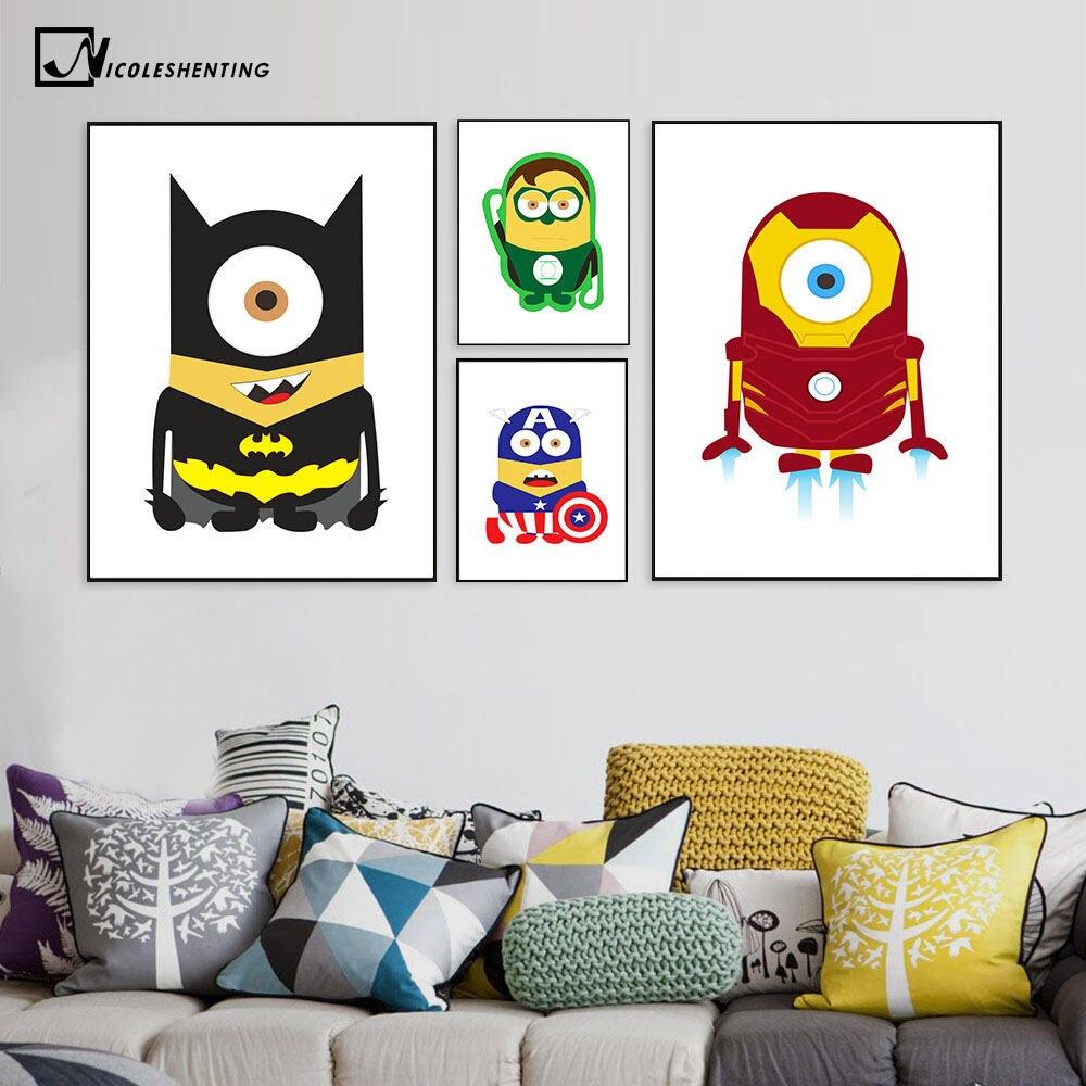 Online-Shop Batman Superman Captain America Minimalistischen Kunst ...
