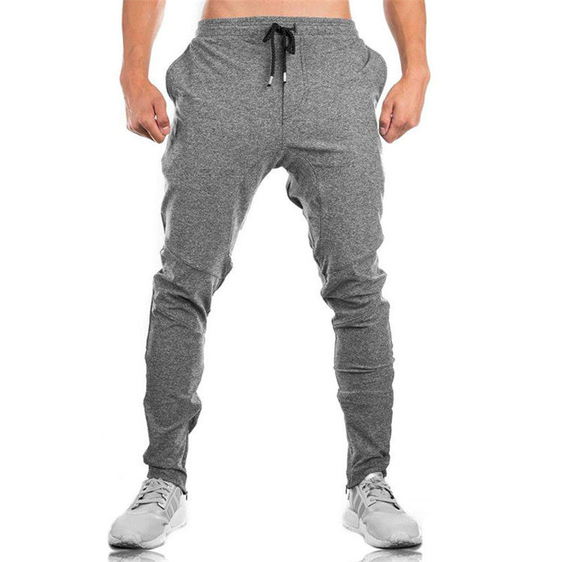 Image 4 - Men's Men's Trousers 2018 Fall Men's Trousers Men's Pants Fitness Sweatpants gyms Joggers Pants Workout Casual Pants Black Pants-in Skinny Pants from Men's Clothing