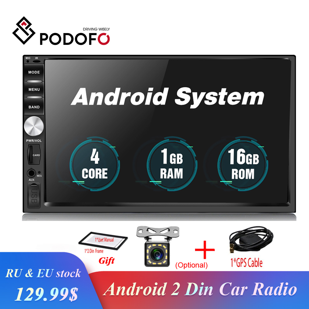 Podofo 2 Din Android Car Radio Stereo GPS Navigation 7 Touch Screen Multimedia Player Autoradio Bluetooth USB SD Audio Player Podofo 2 Din Android Car Radio Stereo GPS Navigation 7 Touch Screen Multimedia Player Autoradio Bluetooth USB SD Audio Player
