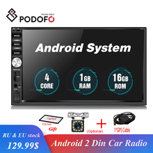 """Podofo 2 Din Android Car Radio Stereo GPS Navigation 7 """"Touch Screen Lettore Multimediale Autoradio Bluetooth USB SD Audio lettore"""