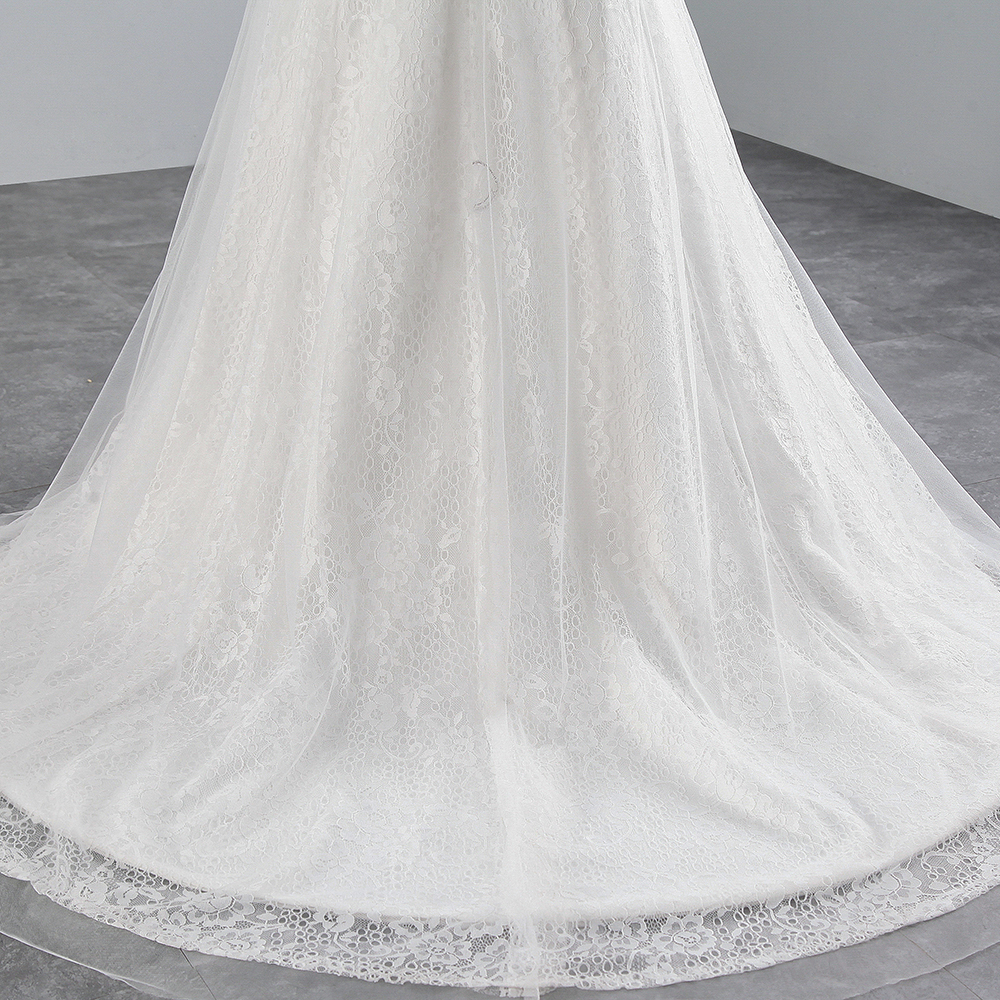 Image 5 - PoemsSongs real photo 2018 new style Sexy chest Mermaid wedding dress  No sleeves lace Wedding Gown Vestido de noiva-in Wedding Dresses from Weddings & Events
