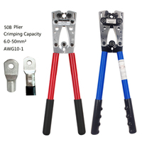 Wire cable crimping plier Hand tools pressed bare terminal clamp copper nose pliers OT / UT terminal 6 50mm2 AWG 10 1 Multitool