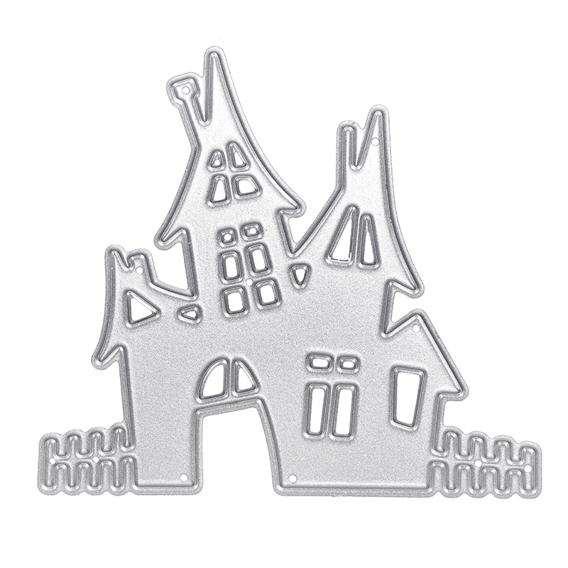 1pc Haunted house Metal Cutting Dies stamp Stencils for DIY Scrapbooking/photo album Decorative Embossing DIY Paper Cards Making