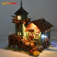 LIGHTAILING Led Light Up Kit For Old Fishing Store Model Building Block Light Set Compatible With
