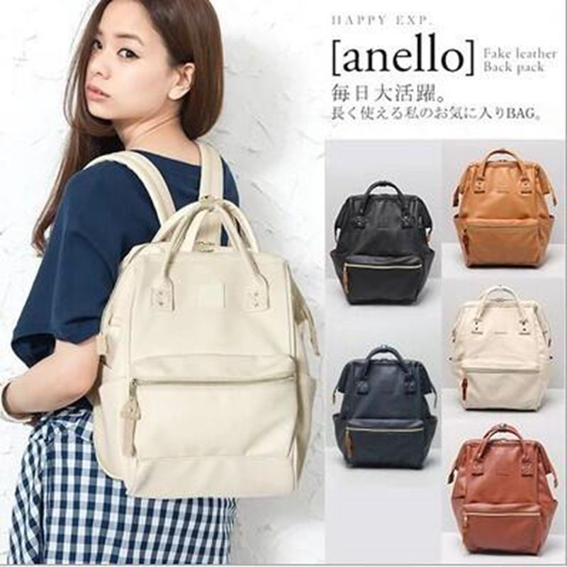 Leather Ring Backpack School Bags For Teenagers Male Anello Backpack Sac A Dos Women Mochila Zaino