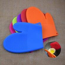 Thicken Two Fingered Silicone Heat Resistant Gloves Anti Slip Oven Baking Glove BBQ Anti-scalding Insulation Mitt Kitchenware 36