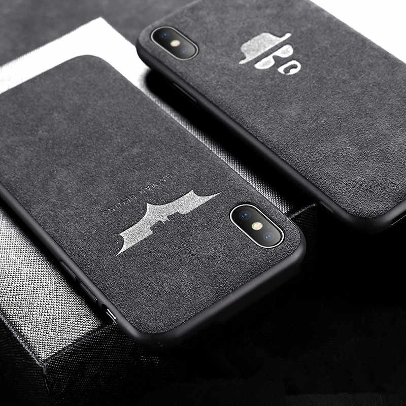 Instagram HOT logo Soft Plush Fur Case For iphone x xs max xr 6s 7 8 6 Plus 7plus Leather TPU Cover Batman Breaking bad Capinhas