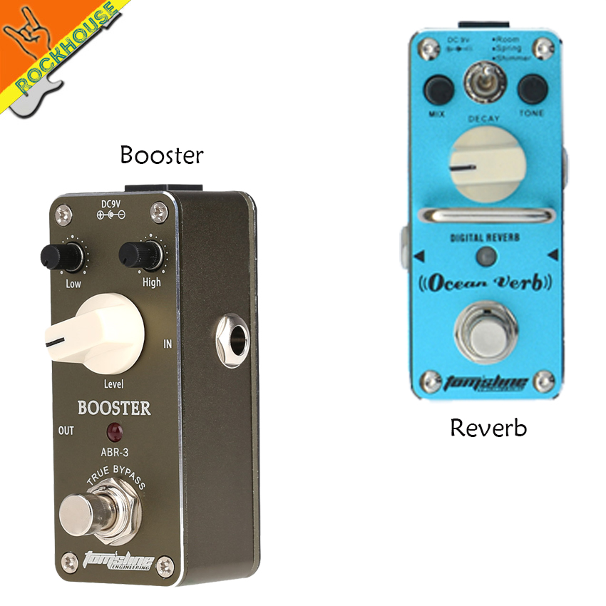 ФОТО AROMA Effect Pedals Package sales Guitar Booster and Reverb effect pedal integrant pedals for guitar player free shipping