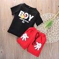 2 ШТ. Малыш Мальчик Дети Микки Маус Костюмы футболка + Шорты Повседневная Одежда Набор