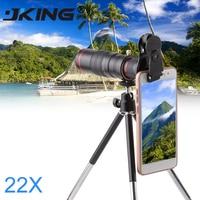JKING Cellphone mobile phone 22x Camera Zoom optical Telescope telephoto Lens For Samsung iphone huawei xiaomi