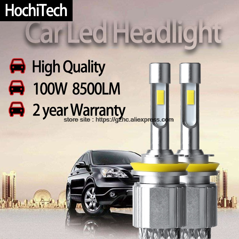 HochiTech H4 H7 H11 H1 H8 H9 LED 9005 HB3 9006 HB4 8500LM Car Headlight Bulbs auto front Fog Lights White automobile headlamp h1 h4 h7 h8 h9 h11 9005 9006 hb3 hb4 9012 hir2 car led headlight bulbs to replace automobile halogen headlamp fog conversion kit