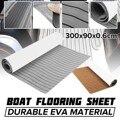 300x90x0,6 см самоклеющиеся EVA пены коричневый/серый с черной линией лодки яхты кэмпер караван пол искусственный тик лодка настил лист Декор