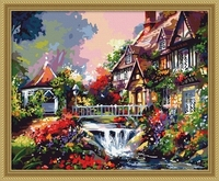 MaHuaf X295 Max Size 40x50cm Frameless DIY Oil Painting By Numbers DIY Digital Oil Painting On